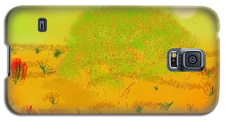 Sky.heat.dust.sun.desert.bush.sand.prickles. Sandy Dunes.rest.silence. Galaxy S5 Case featuring the digital art Desert by Dr Loifer Vladimir