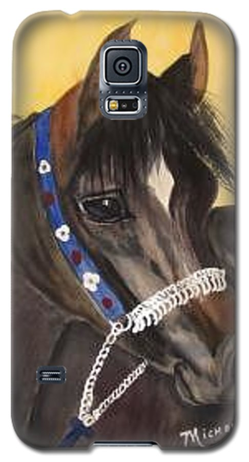 Arabian Horse Galaxy S5 Case featuring the painting Desert Dream by Michele Turney