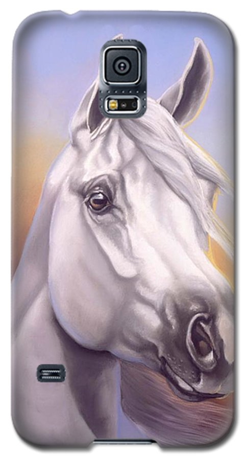 Arabian Galaxy S5 Case featuring the painting Desert Prince by Howard Dubois