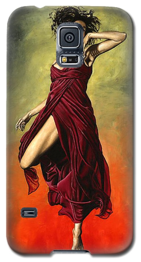 Dance Galaxy S5 Case featuring the painting Destiny's Dance by Richard Young