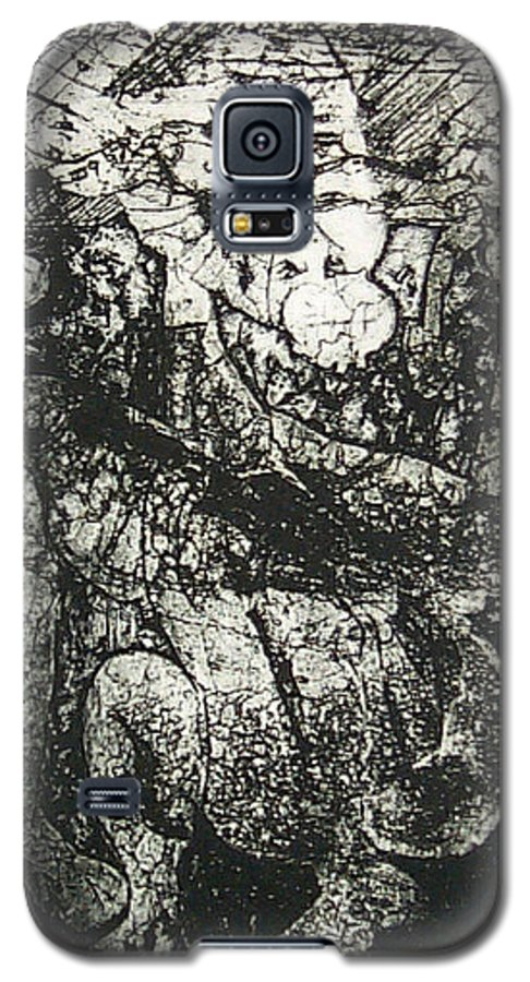 Etching Galaxy S5 Case featuring the print Destroy Plate by Thomas Valentine