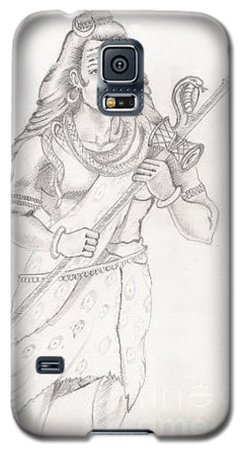 Lord Shiva Galaxy S5 Case featuring the painting Destroyer Of The Universe - Lord Shiva by Tanmay Singh