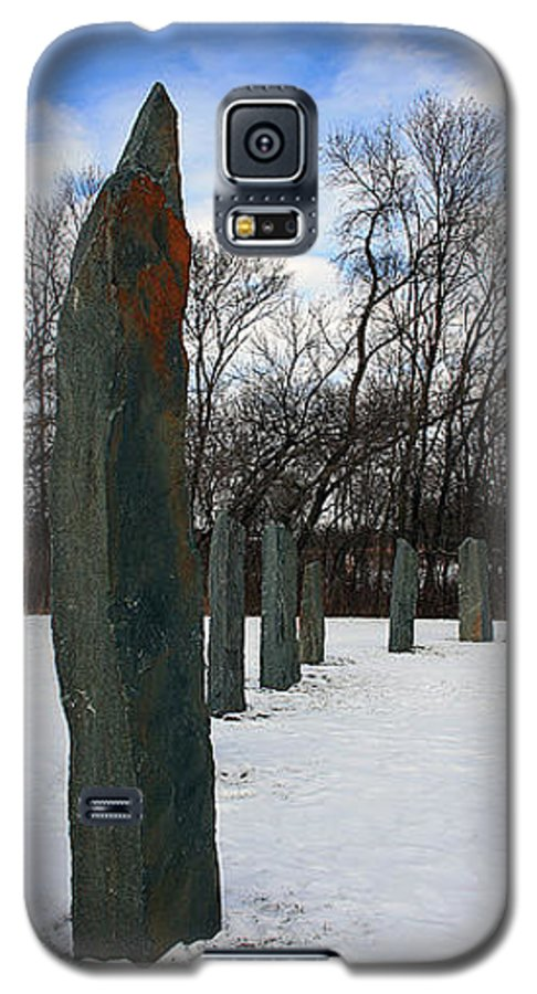 Historic Galaxy S5 Case featuring the sculpture Detail From The Sculpture Vinland by Jarle Rosseland