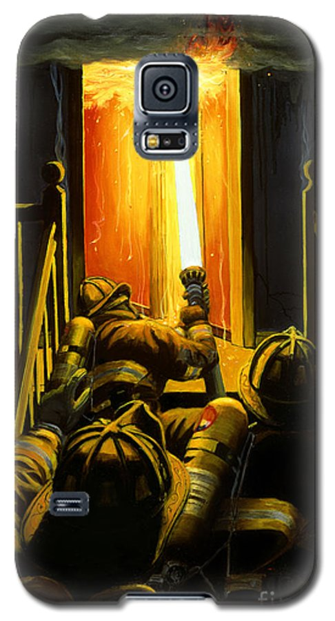 Firefighting Galaxy S5 Case featuring the painting Devil's Stairway by Paul Walsh