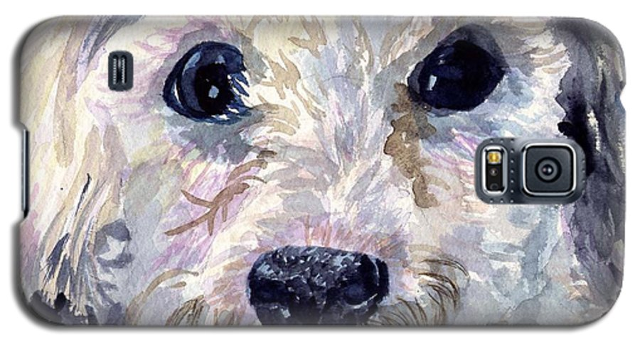 Bichon Frise Galaxy S5 Case featuring the painting Did You Say Lunch by Sharon E Allen