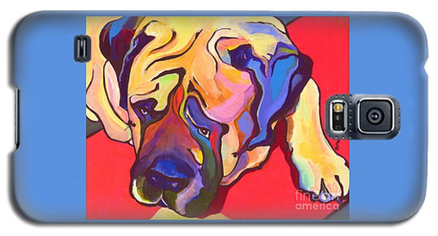 Mastiff Galaxy S5 Case featuring the painting Diesel  by Pat Saunders-White