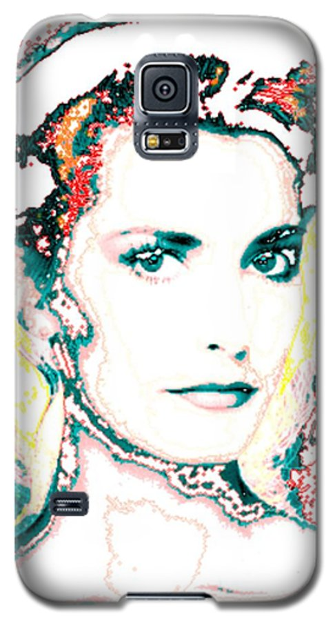 Digital Galaxy S5 Case featuring the digital art Digital Self Portrait by Kathleen Sepulveda