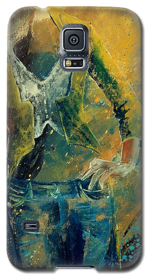 Woman Girl Fashion Galaxy S5 Case featuring the painting Dinner Jacket by Pol Ledent