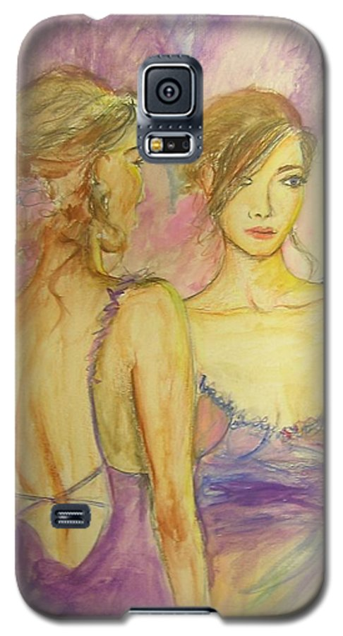 Feminine Galaxy S5 Case featuring the painting Distracted by Lizzy Forrester