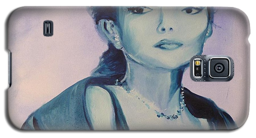 Maria Callas Galaxy S5 Case featuring the painting Diva I Maria Callas by Lizzy Forrester