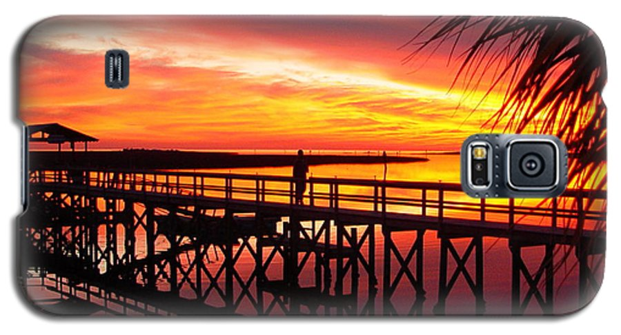 Palms Galaxy S5 Case featuring the photograph Docking It by Debbie May