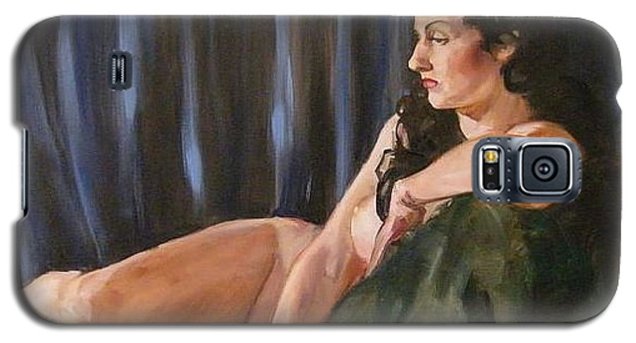 Nude Galaxy S5 Case featuring the painting Dolly by Debra Jones