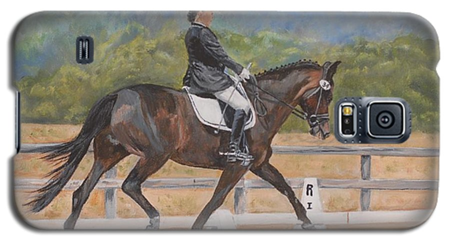 Horse Galaxy S5 Case featuring the painting Donnerlittchen by Quwatha Valentine