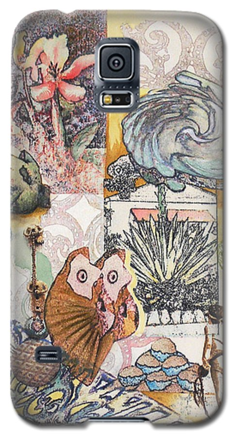 Abstract Galaxy S5 Case featuring the painting Don't Artichoke by Valerie Meotti