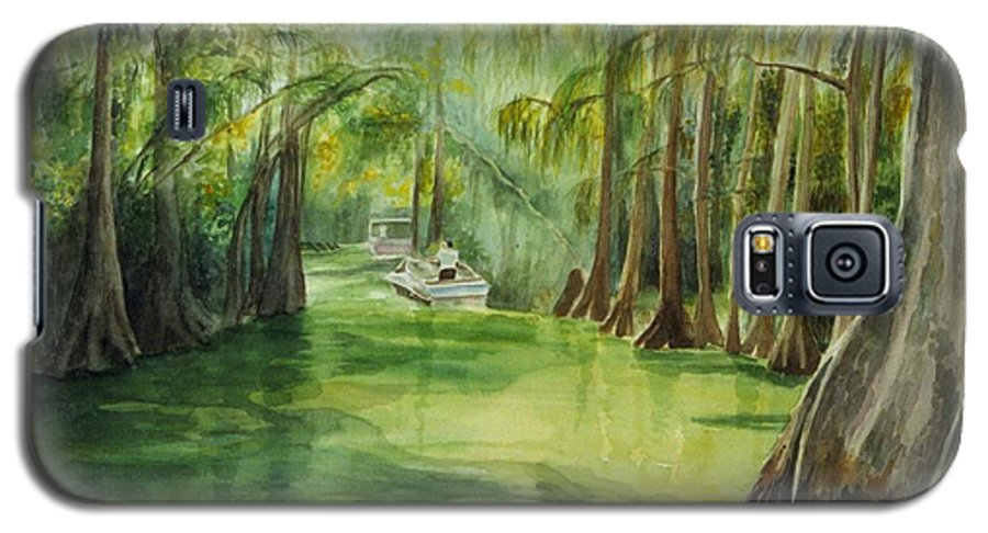 Passage Between Lakes Galaxy S5 Case featuring the painting Dora Passage by Judy Swerlick
