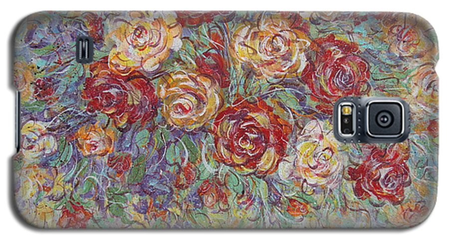 Flowers Galaxy S5 Case featuring the painting Double Delight. by Natalie Holland