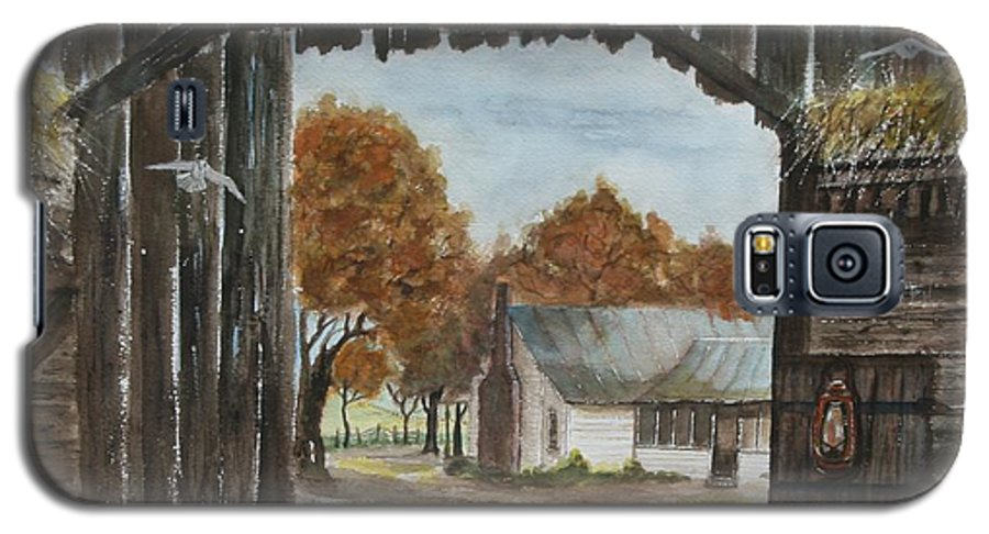 Grandpa And Grandma's Homeplace Galaxy S5 Case featuring the painting Down Home by Ben Kiger
