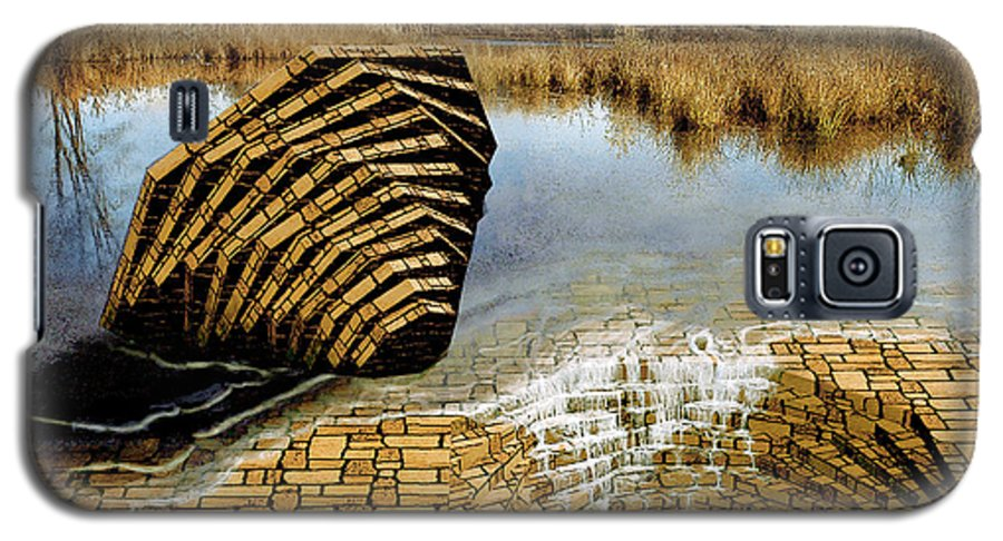 Drain Galaxy S5 Case featuring the digital art Drain - Mendon Ponds by Peter J Sucy