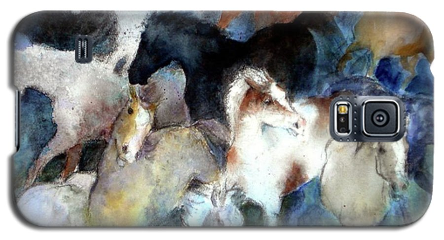 Horses Galaxy S5 Case featuring the painting Dream Of Wild Horses by Christie Michelsen