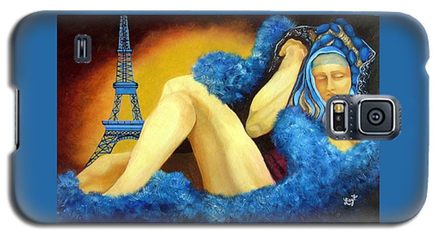 Paris Galaxy S5 Case featuring the painting Dreaming Of Paris by Elizabeth Lisy Figueroa