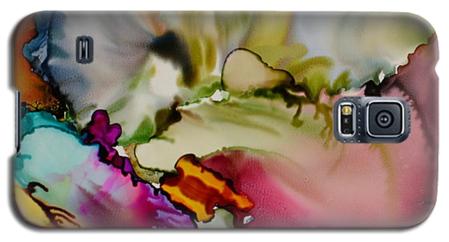 Abstract Galaxy S5 Case featuring the painting Dreaming by Susan Kubes