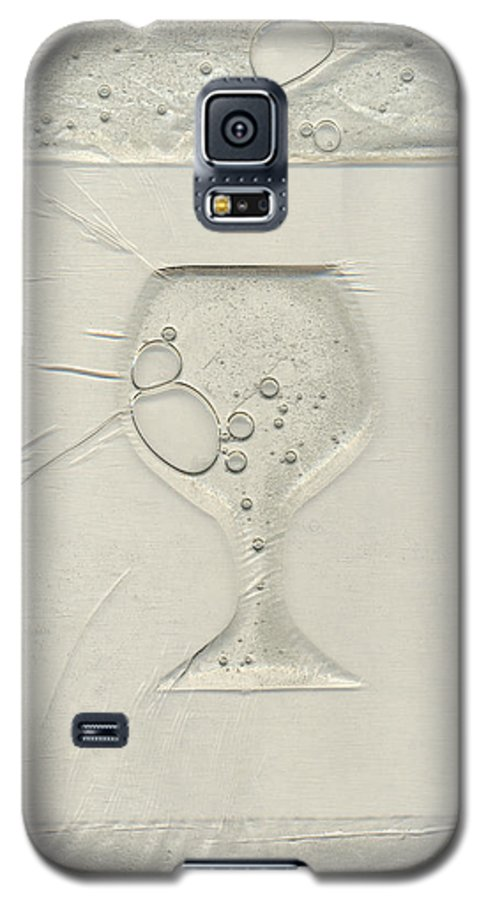 Wine Galaxy S5 Case featuring the painting Drinking Alone by Rick Silas