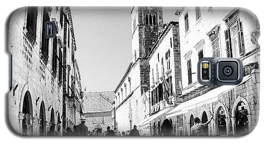 Beautiful Galaxy S5 Case featuring the photograph #dubrovnik #b&w #edit by Alan Khalfin