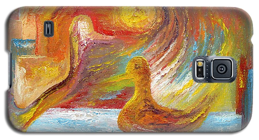 Duck Galaxy S5 Case featuring the painting Duck The Alchemist by Karina Ishkhanova