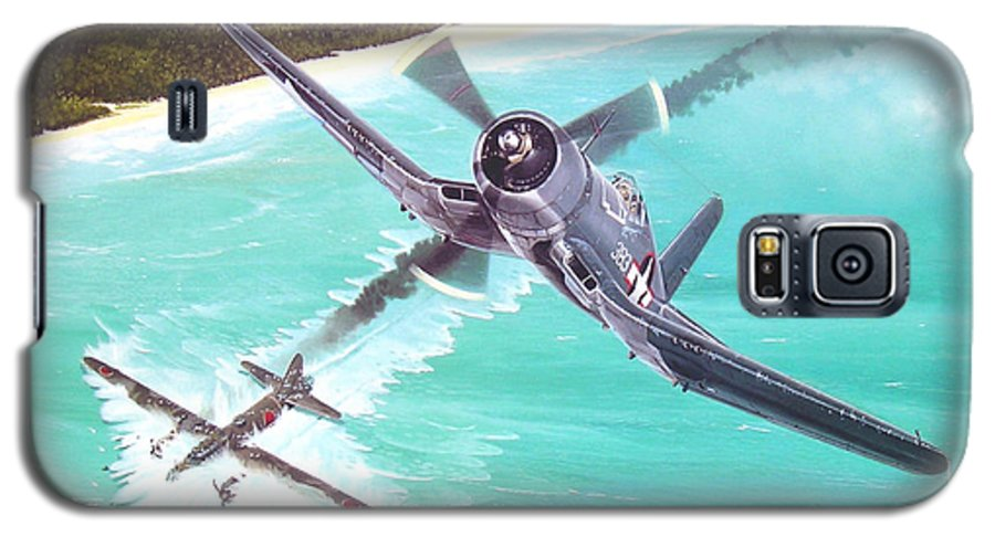 Military Galaxy S5 Case featuring the painting Duel Over New Georgia by Marc Stewart