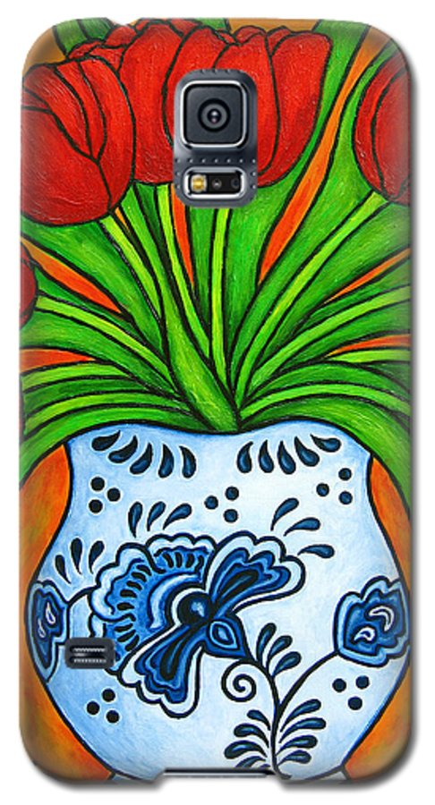 White Galaxy S5 Case featuring the painting Dutch Delight by Lisa Lorenz