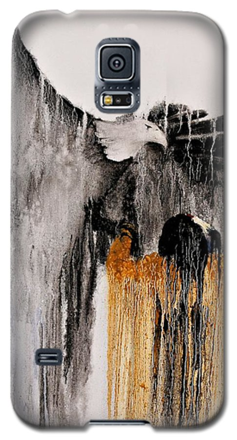 Natives Galaxy S5 Case featuring the painting Eagle Spirit by Patrick Trotter