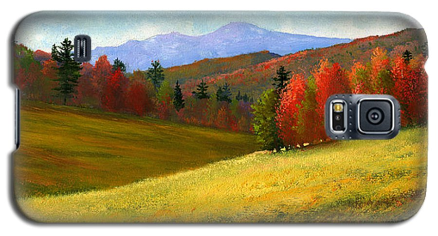Landscape Galaxy S5 Case featuring the painting Early October by Frank Wilson