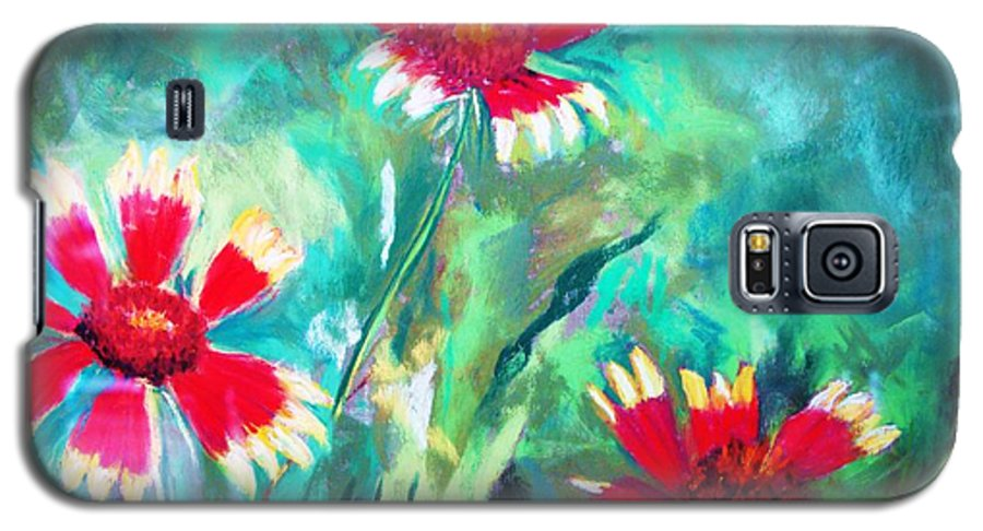 Flowers Galaxy S5 Case featuring the painting East Texas Wild Flowers by Melinda Etzold
