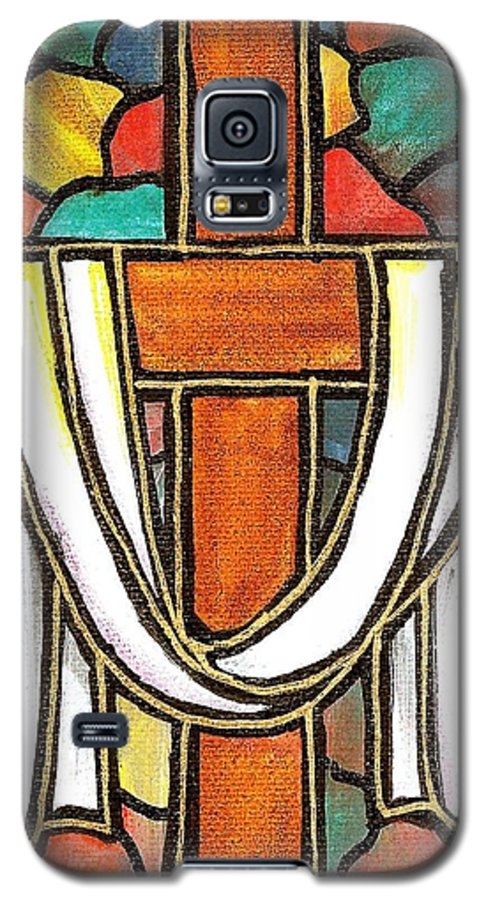 Easter Galaxy S5 Case featuring the painting Easter Cross 6 by Jim Harris
