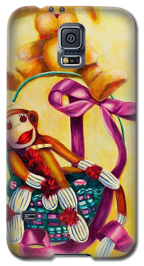 Easter Galaxy S5 Case featuring the painting Easter Made Of Sockies by Shannon Grissom