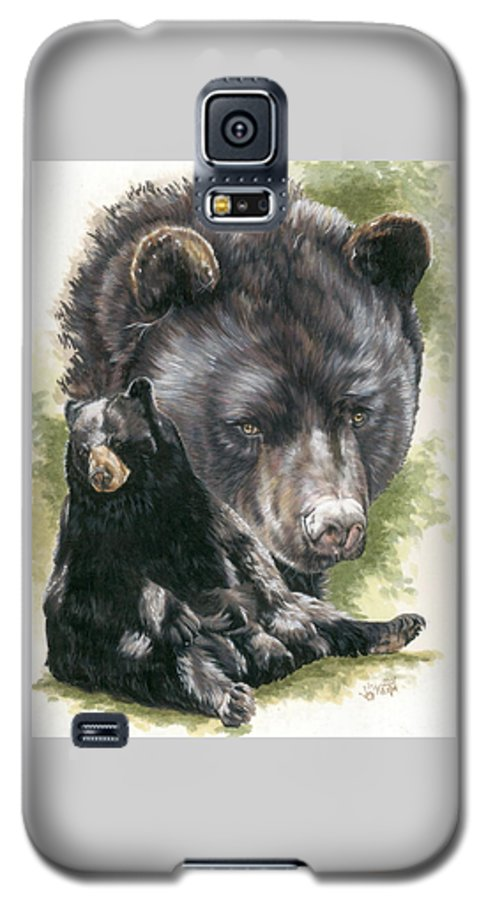 Black Bear Galaxy S5 Case featuring the mixed media Ebony by Barbara Keith