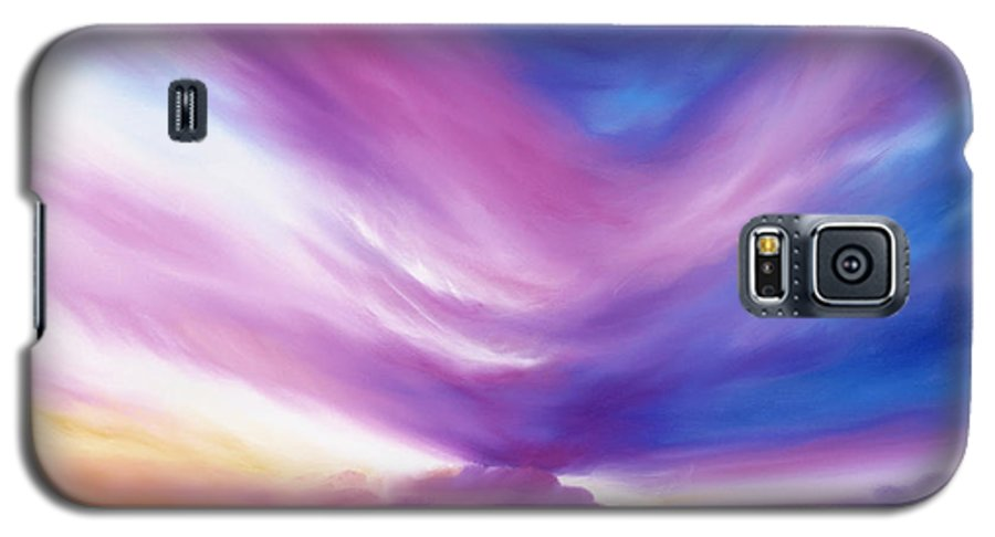 Clouds Galaxy S5 Case featuring the painting Ecstacy by James Christopher Hill