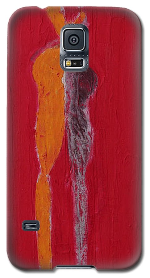 Galaxy S5 Case featuring the painting El Abrazo Serie 44 by Jorge Berlato