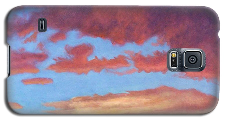 Sunset Galaxy S5 Case featuring the painting El Dorado Sunset by Brian Commerford