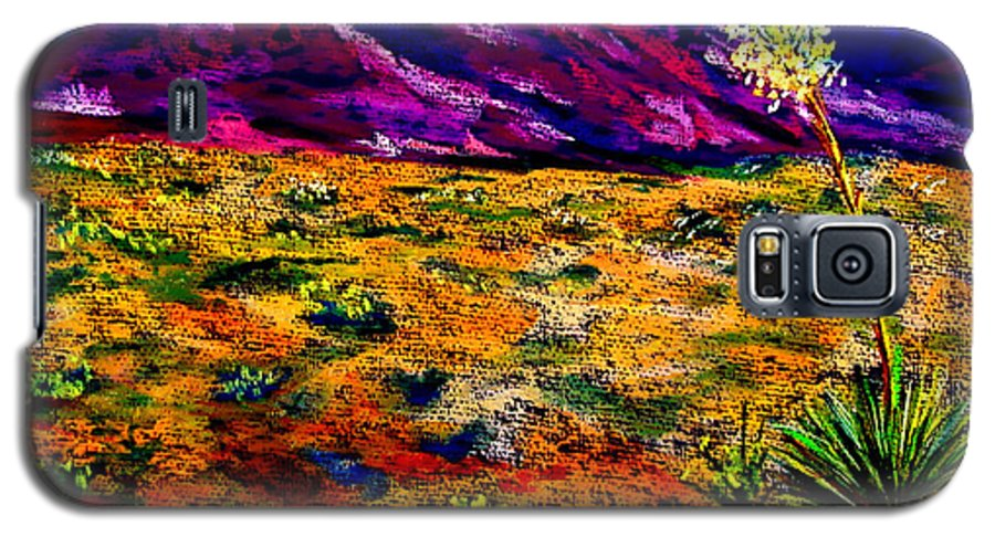 Yucca Galaxy S5 Case featuring the painting El Paso by Melinda Etzold