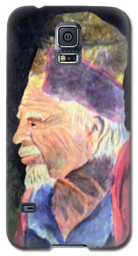 Elder Galaxy S5 Case featuring the painting Elder by Susan Kubes