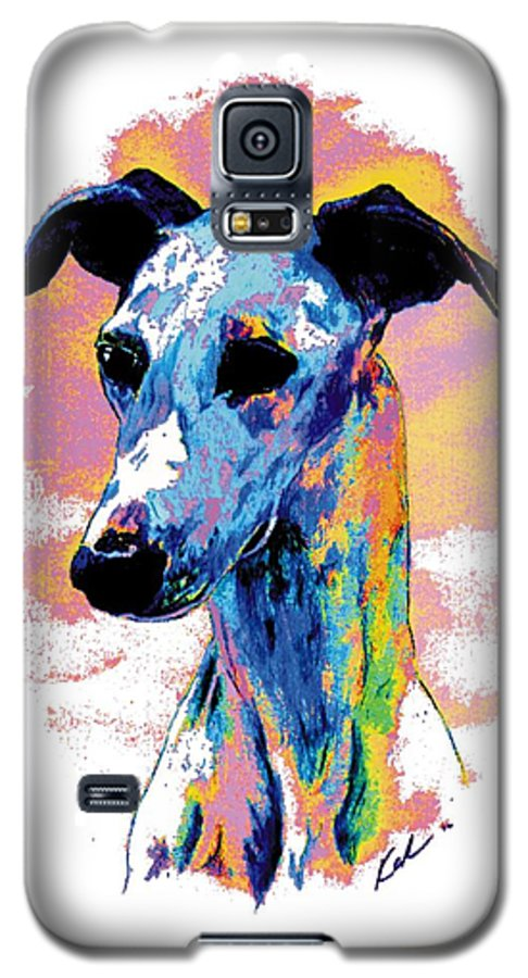 Electric Whippet Galaxy S5 Case featuring the digital art Electric Whippet by Kathleen Sepulveda