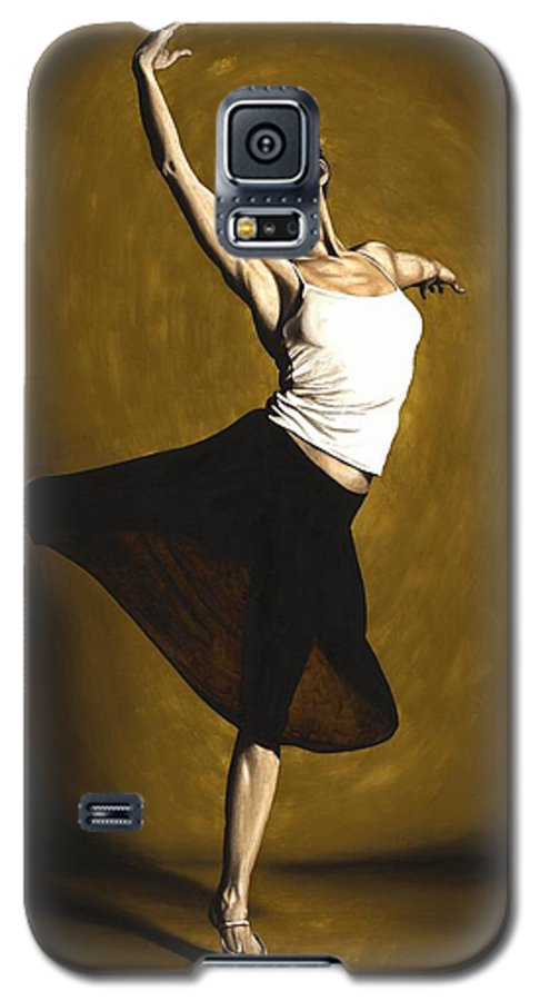 Elegant Galaxy S5 Case featuring the painting Elegant Dancer by Richard Young
