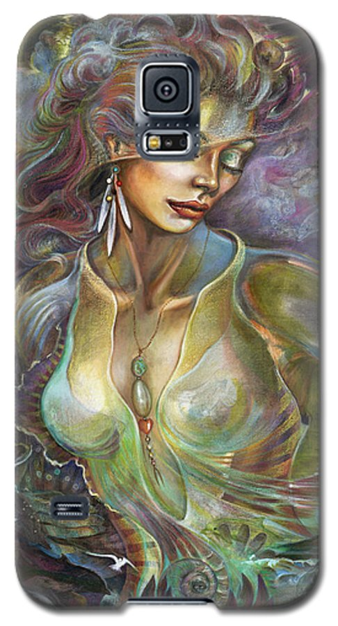 Elements Galaxy S5 Case featuring the painting Element Air by Blaze Warrender