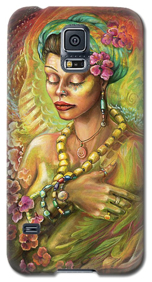 Elements Galaxy S5 Case featuring the painting Elemental Fire by Blaze Warrender