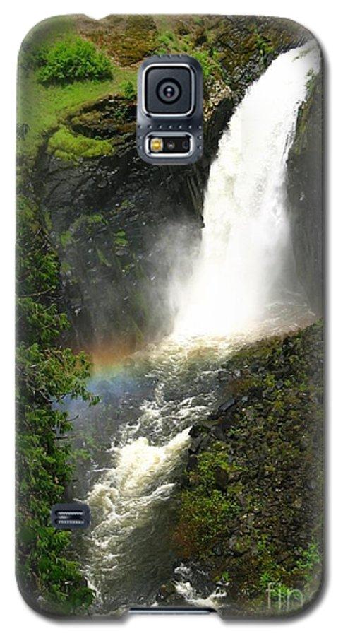 Rainbow Galaxy S5 Case featuring the photograph Elk Creek Falls Rainbow by Idaho Scenic Images Linda Lantzy