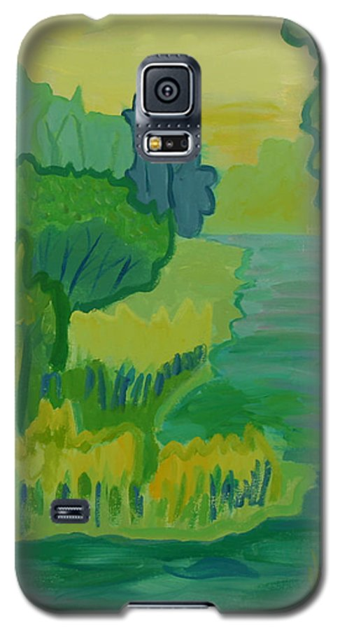 River Galaxy S5 Case featuring the painting Ellis River by Debra Bretton Robinson