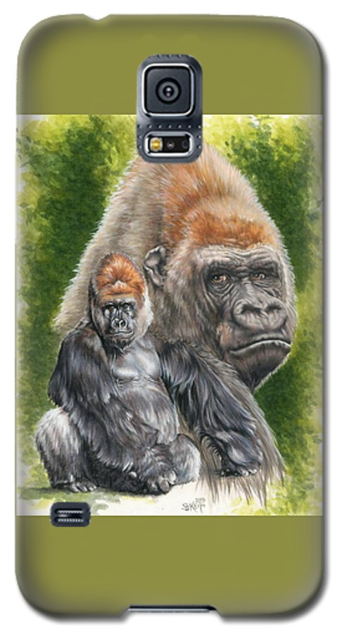 Gorilla Galaxy S5 Case featuring the mixed media Eloquent by Barbara Keith