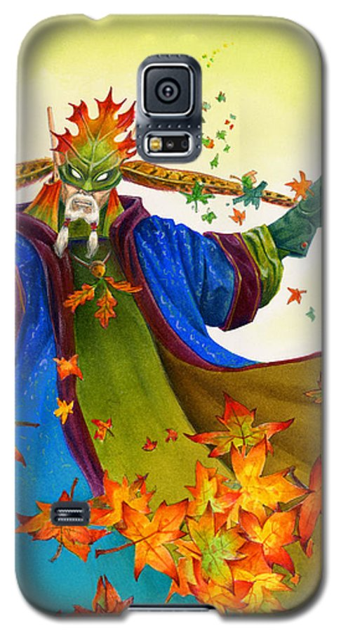 Elf Galaxy S5 Case featuring the painting Elven Mage by Melissa A Benson