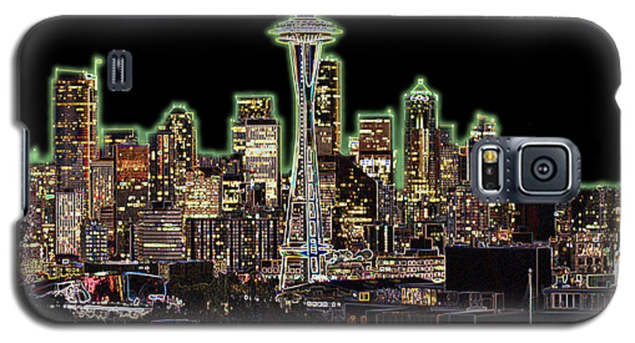 Colorful Galaxy S5 Case featuring the photograph Emerald City by Larry Keahey